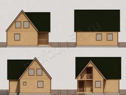 Дом из сухого бруса проект Антон - вид 2