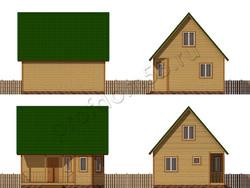 Дом из бруса проект Арам - вид 2