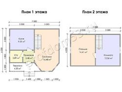 Дом из бруса проект Арам - вид 3