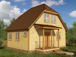 Дом из бруса проект Архип - вид 1