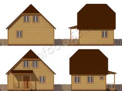Дом из бруса проект Архип - вид 2