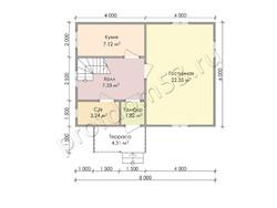 Дом из бруса проект Архип - вид 3
