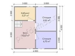 Дом из бруса проект Архип - вид 4