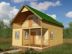 Дом из бруса проект Аристарх - вид 1