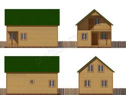 Дом из бруса проект Аристарх - вид 2
