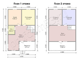 Дом из бруса проект Аристарх - вид 3
