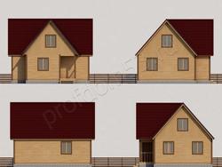 Дом из бруса проект Аркадий - вид 2