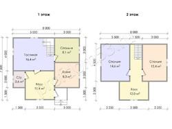 Дом из бруса проект Аркадий - вид 3