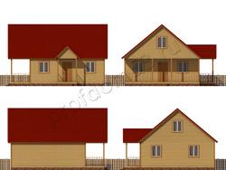 Дом из бруса проект Арман - вид 2