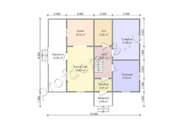 Дом из бруса проект Арман - вид 3