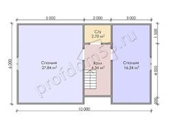Дом из бруса проект Арман - вид 4