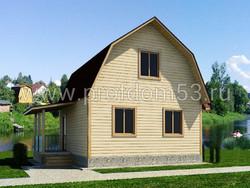 Дом из сухого бруса проект Арсений - вид 1