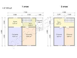 Дом из сухого бруса проект Арсений - вид 3