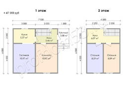 Дом из бруса проект Арсений - вид 3
