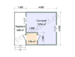 Дом из бруса проект Артем - вид 2