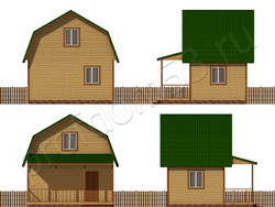 Дом из бруса проект Артур - вид 2