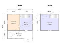Дом из бруса проект Артур - вид 3