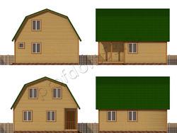 Дом из бруса проект Ашот - вид 2