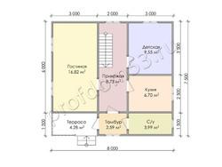 Дом из бруса проект Ашот - вид 3
