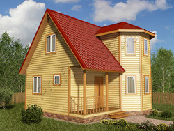 Дом из бруса проект Аскар - вид 1
