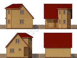Дом из бруса проект Аскар - вид 2