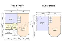 Дом из бруса проект Аскар - вид 3