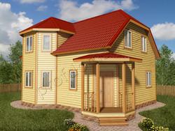 Дом из бруса проект Аваз - вид 1