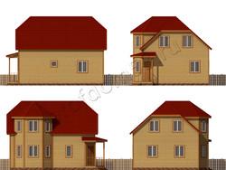 Дом из бруса проект Аваз - вид 2