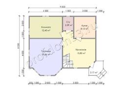 Дом из бруса проект Аваз - вид 3