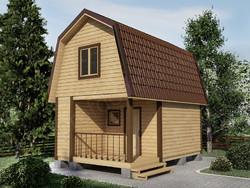 Дом из бруса проект Авдей - вид 1