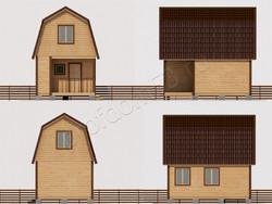 Дом из бруса проект Авдей - вид 2