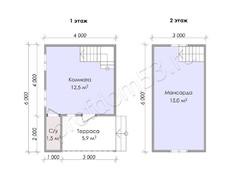 Дом из бруса проект Авдей - вид 3