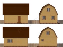 Дом из бруса проект Авель - вид 2
