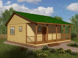 Дом из бруса проект Август - вид 1