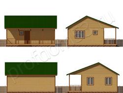 Дом из сухого бруса проект Август - вид 2