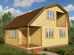 Дом из бруса проект Августин - вид 1