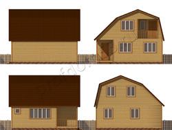 Дом из бруса проект Августин - вид 2