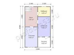 Дом из бруса проект Августин - вид 4