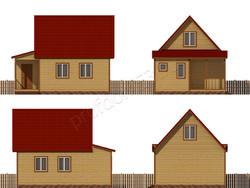 Дом из бруса проект Аврам - вид 2