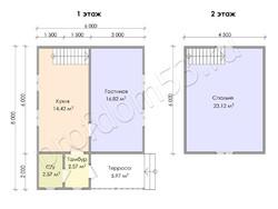 Дом из бруса проект Аврам - вид 3