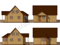 Дом из бруса проект Азамат - вид 2