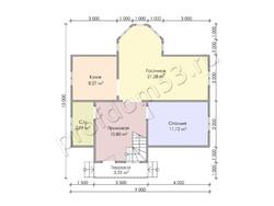 Дом из бруса проект Азамат - вид 3
