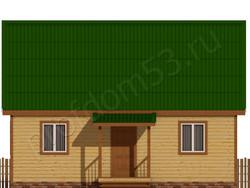 Дом из бруса проект Азат - вид 2