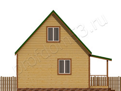 Дом из сухого бруса проект Азат - вид 3
