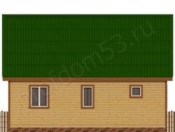 Дом из сухого бруса проект Азат - вид 4