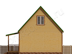 Дом из сухого бруса проект Азат - вид 5