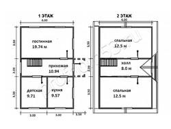 Дом из сухого бруса проект Азат - вид 8