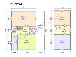 Дом из сухого бруса проект Азат - вид 9