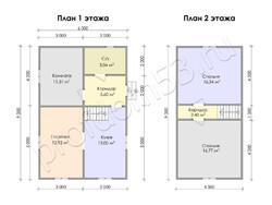 Дом из сухого бруса проект Азат - вид 10