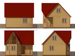 Дом из бруса проект Бахрам - вид 2